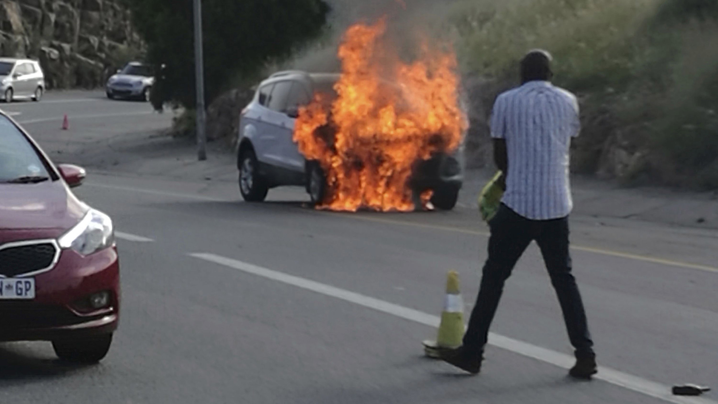 The Internet is awash with photos of burning South African Fords
