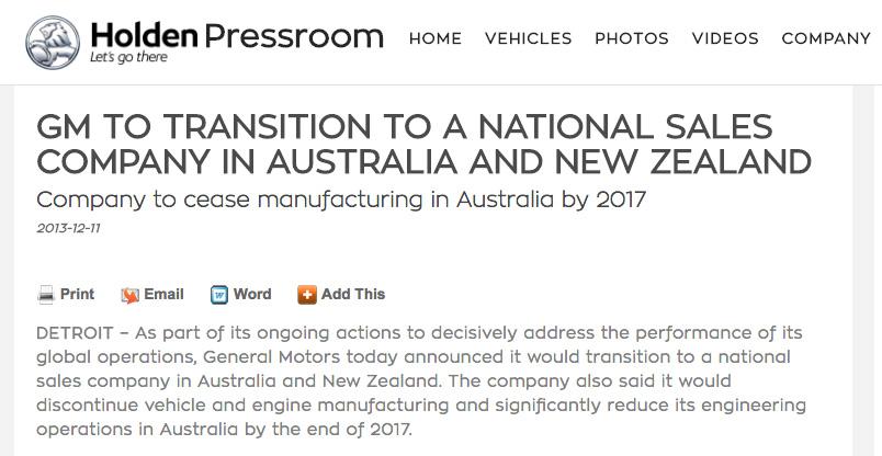 Bogus title for a 'factory closure' announcement...