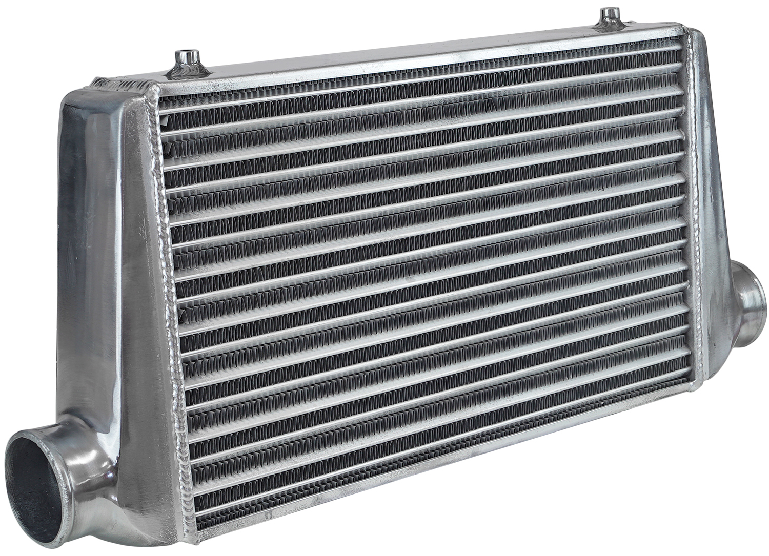 Don't paint your intercooler black - it hampers convection, the primary mechanism by which the intercooler rejects heat from the compressor