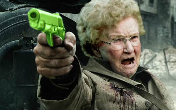 Grandma was quite ok - then she heard the Beastie Boys and decided they should repair her Barina for free after all