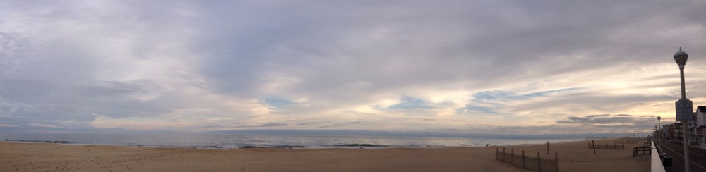 Mobile pano from a run along the Ocean City Boardwalk this afternoon. Shorts & tee weather - unbelievable.
