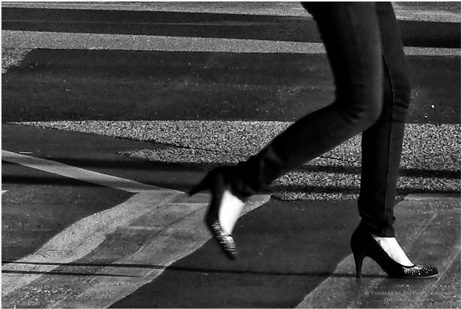 Legs and Line Street Photo - Okinawa, Japan.