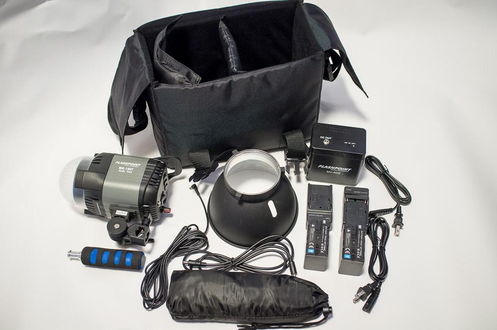Flashpoint 180 Monolight Kit from Adorama.