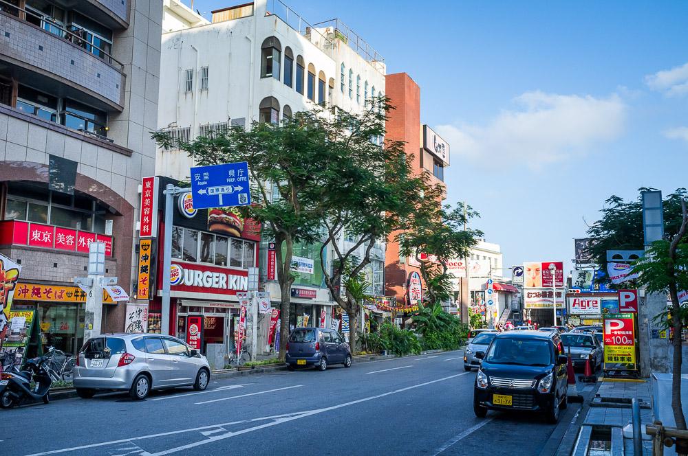 Naha street just west of Kokusai Street. - Okinawa, Japan. - Fuji x100.