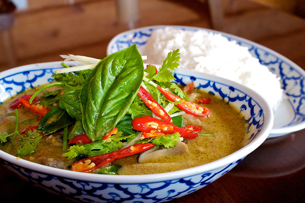 Thai Green Curry at Curcuma Thai Restaurant.