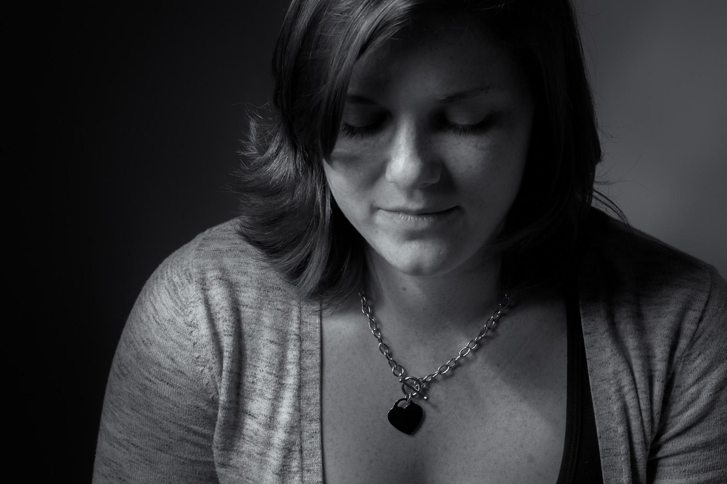 One light portrait of Jessica.