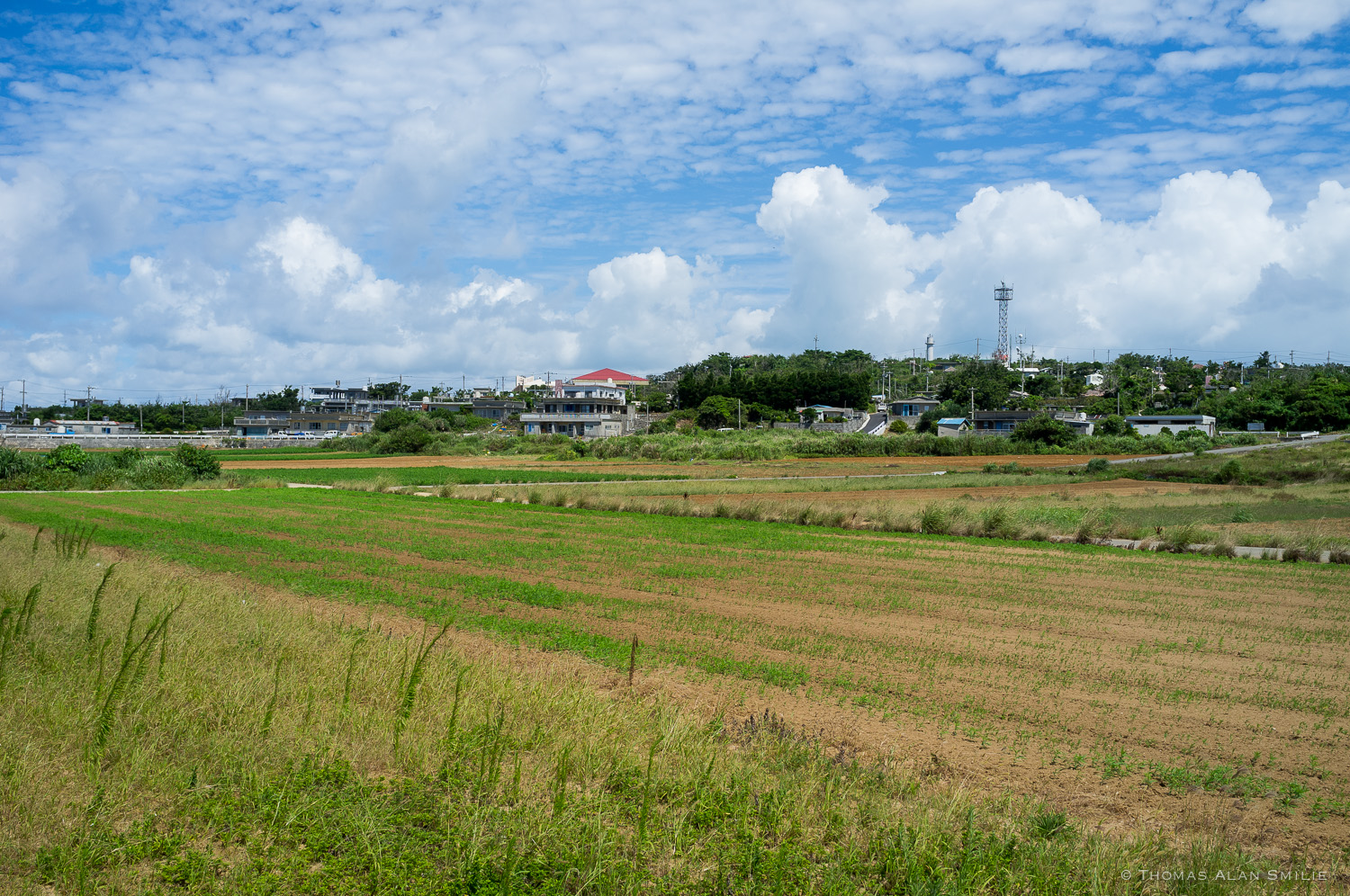 Farmland on Tsuken Island. Fuji x100.