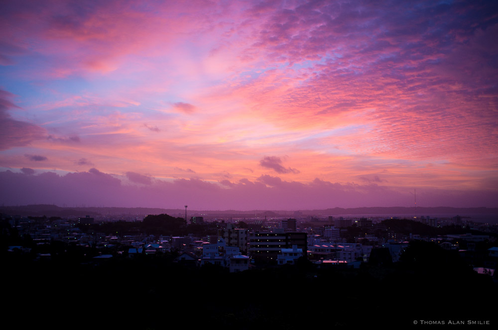Sunrise over Awase. - Okinawa, Japan