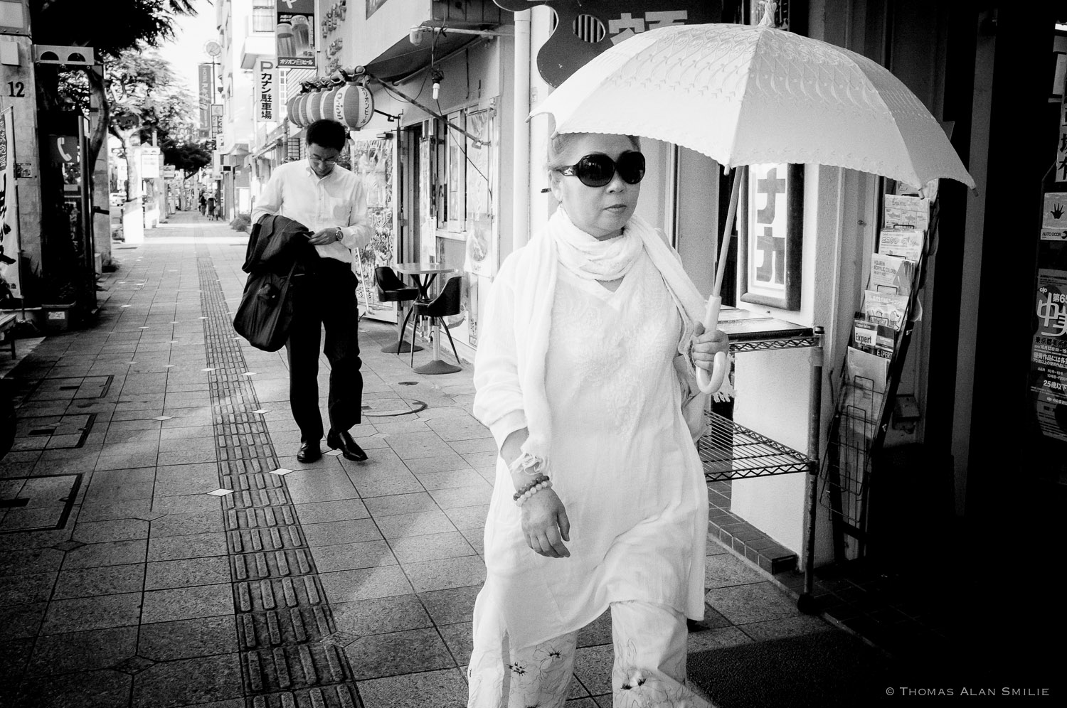 Japan Street Photo. Kokusai Street in Naha, Okinawa. Fuji x100 f/8