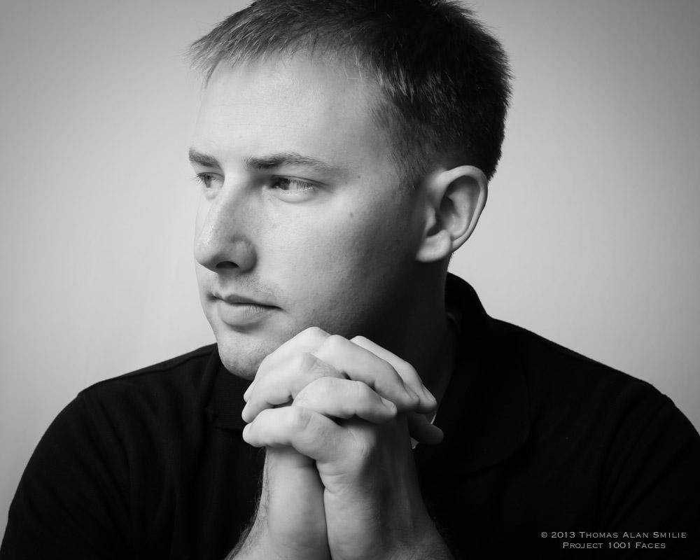 Portrait of Jason for Project 1001 Faces.
