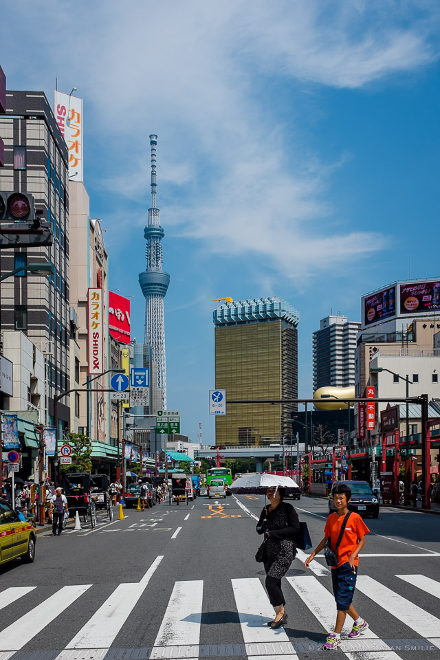 Streets of Tokyo - Down the street from Tokyo Skytree in Asakusa.  Fuji x100s
