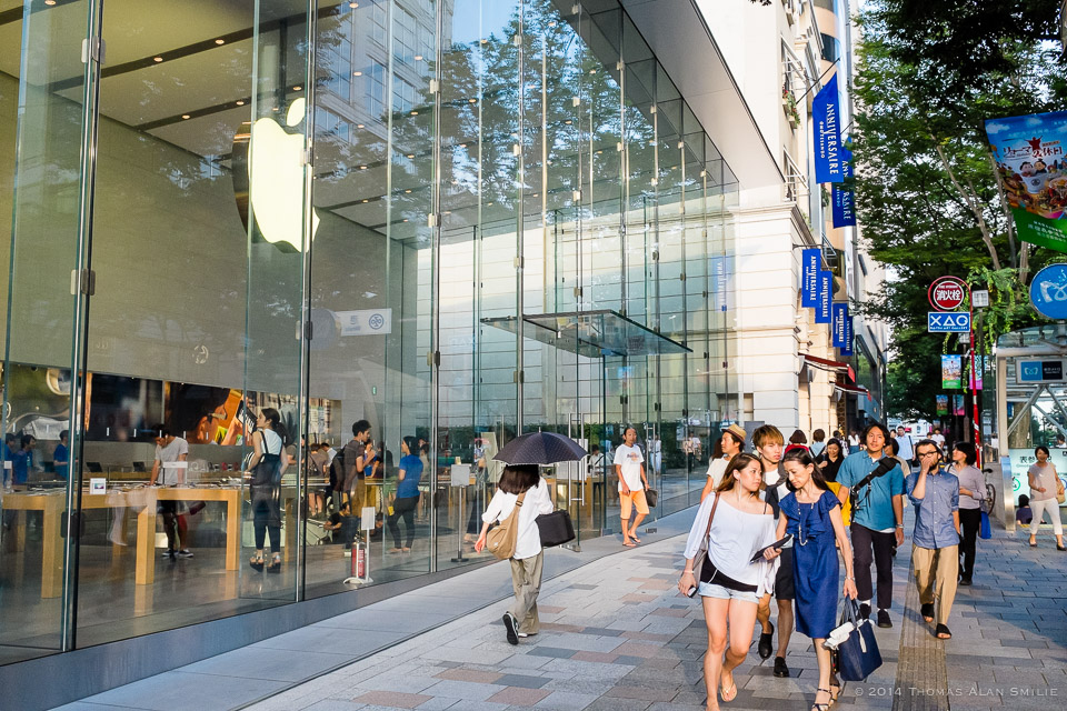 Streets of Tokyo - Outside the Apple store in Omotesando Hills. Fuji x100s