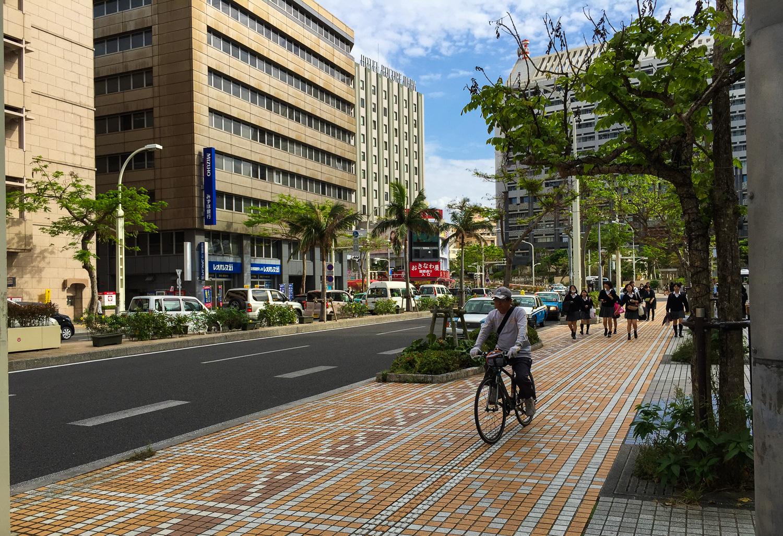 Street scene in Naha, Okinawa, Japan. Apple iPhone 6 Plus at ISO 32, f2.2, 1/2000 sec.