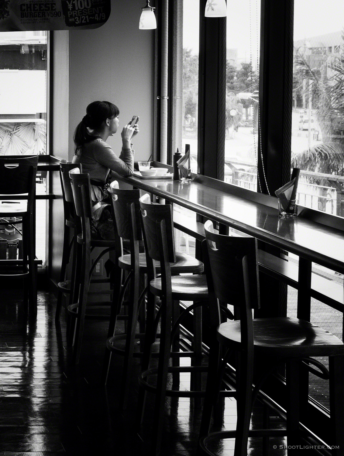 Fuji x100, ISO500, f8, 1/60 sec. Edited and converted to B&W with Adobe Lightroom.