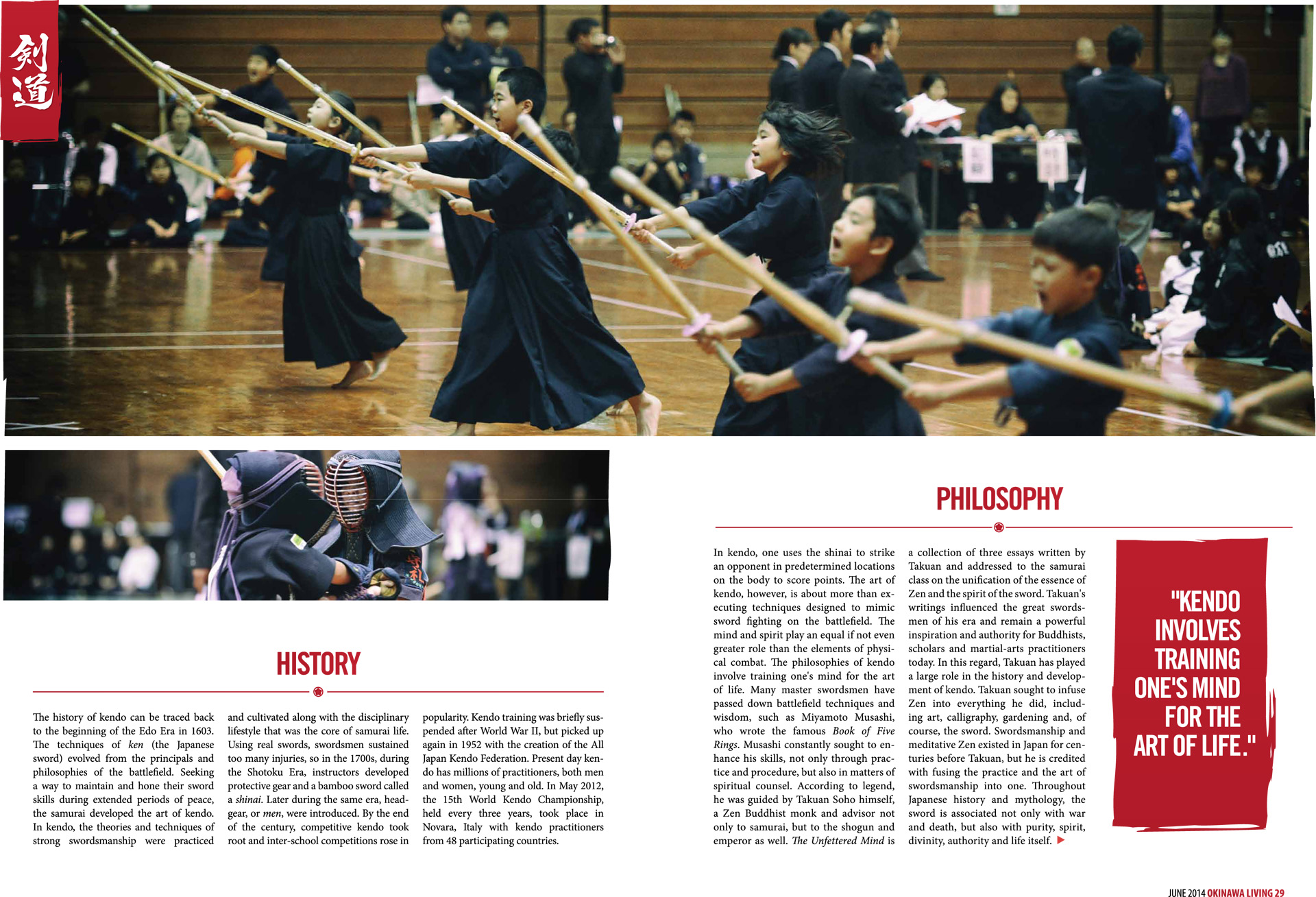Feature spread from Okinawa, Living Magazine.
