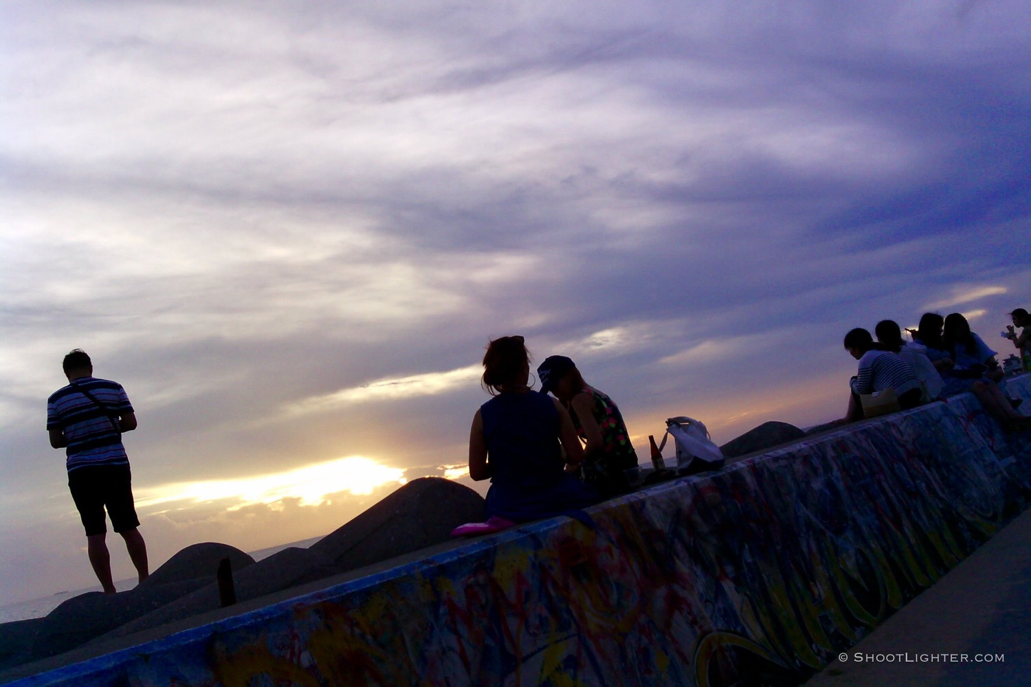 Sunset viewing in Mihama, Okinawa, Japan. Captured with my Narrative Clip.