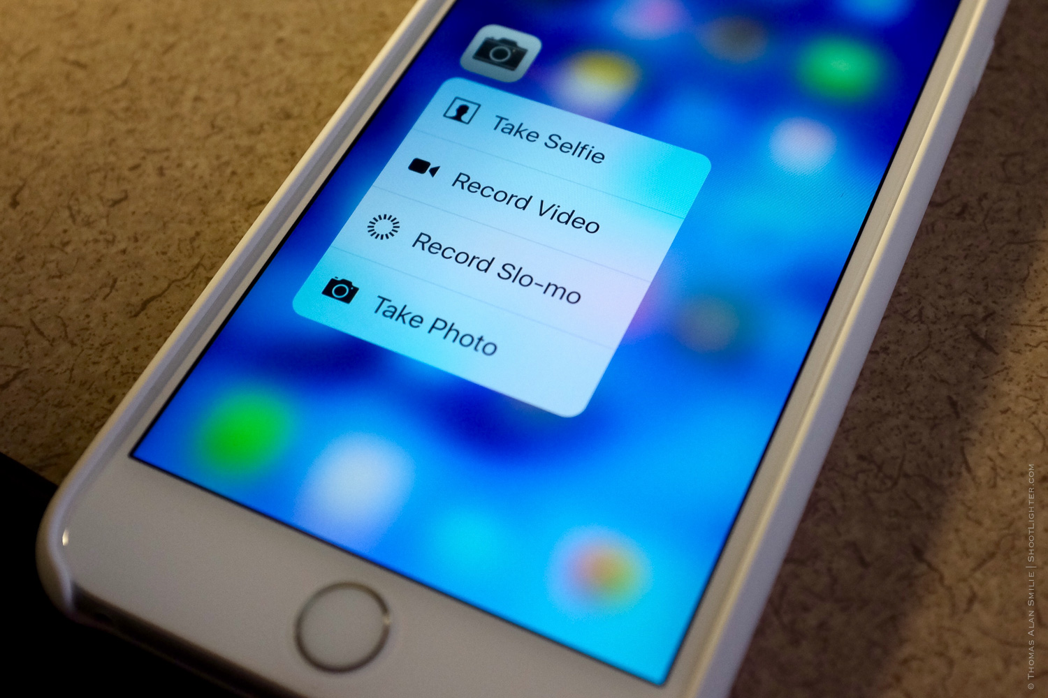 3D Touch on the new iPhone 6s Plus.