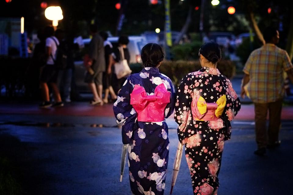Yukatas, summer kimonos in Okinawa, Japan. Shot with a Fuji X-Pro1, 56mm at f2, 1/500 sec.