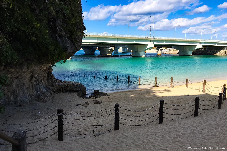 Naminoue Beach beside Naminoue Shrine in Naha, Okinawa. iPhone 6s Plus.