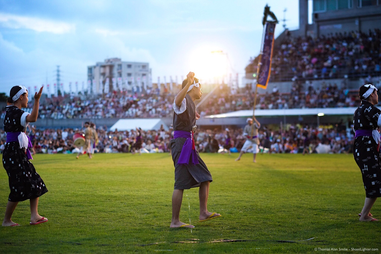 Festival in Okinawa, Japan. Fuji X-Pro1, 56mm f/1.2 @ f/2.0, 1/500 sec, ISO 1600