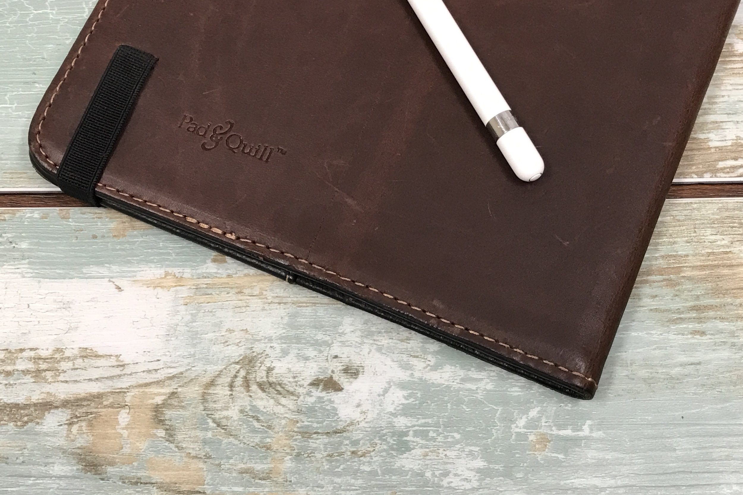 """Pad & Quill Oxford Leather Case for the iPad Pro 9.7"""" with the Apple Pencil."""