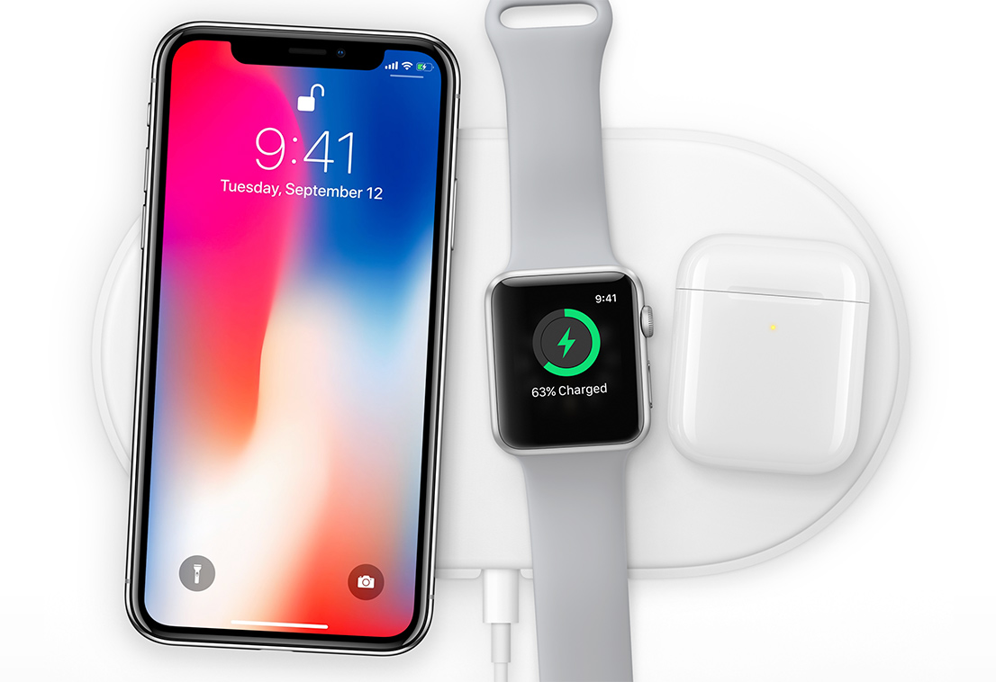 iPhone X - with AirPods 2