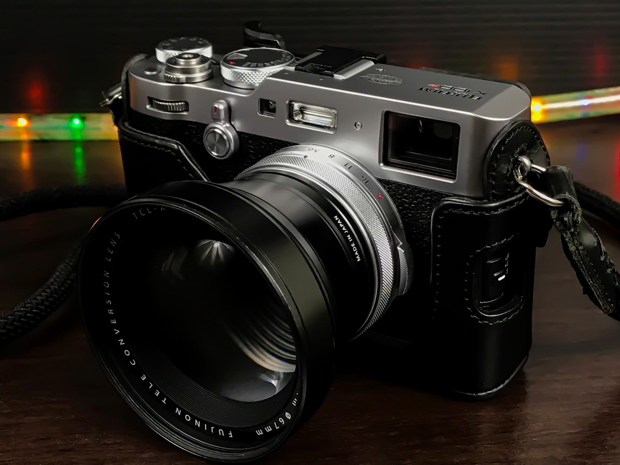 Fuji x100F w/ TCL-x100 Teleconverter.