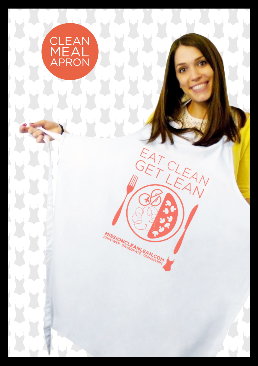 We encourage you to create wonderful healthy food in your own kitchen and now you can cook like a professional in this 'eat clean get lean' chefs apron. Washable at 60C so you can experiment to your hearts content.One size.  £20 plus £3.00 p&p