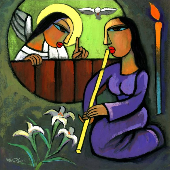 Annunciation,  by He Qi