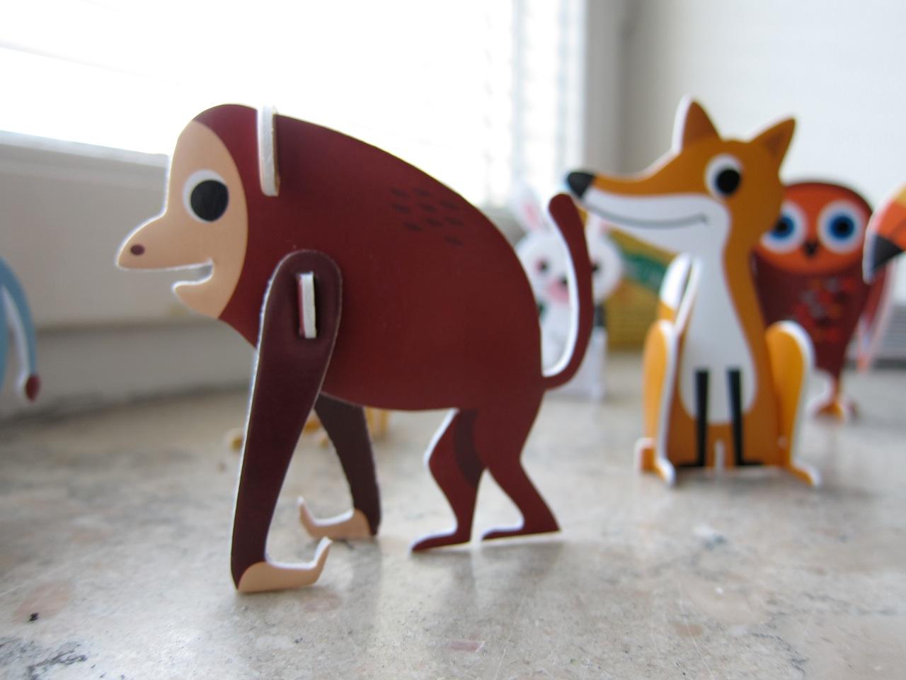 2D/3D Swedish animal puzzle
