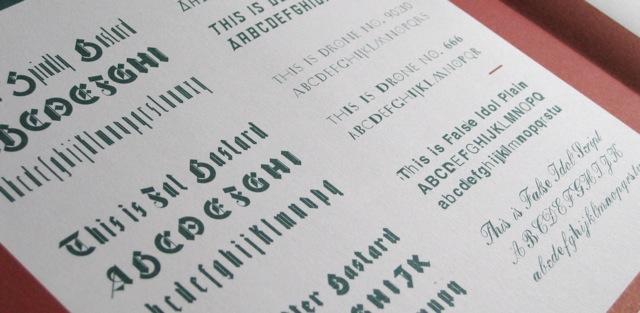 Virus fonts by Jonathan Barnbrook
