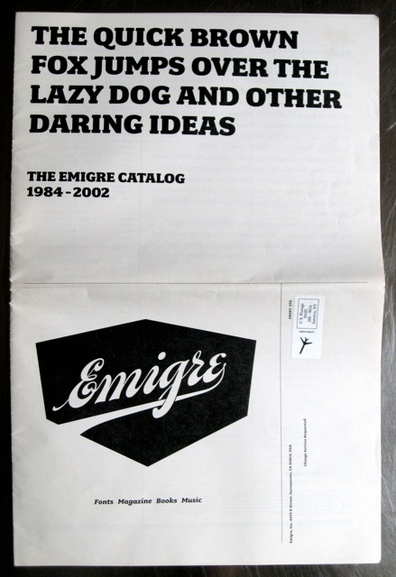 Emigre type catalogues and promo bits