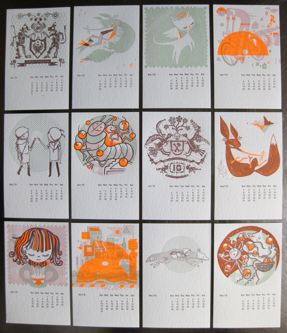 Studio on fire calendar 2010