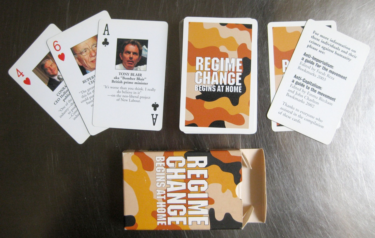 Iraq war alternative regime change playing cards