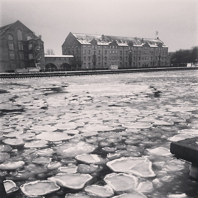It's thawing a little but the #docks are still pretty #icy - #copenhagen