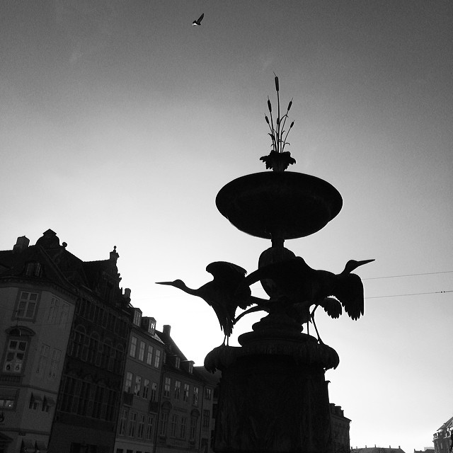 I just can't stop myself from photographing this #fountain - #touristfodder #copenhagen #insta_bwgramers #blackandwhite