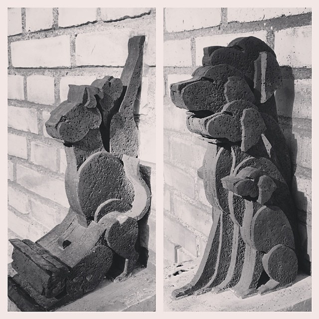 Animal (dog and cat) #sculpture at #dyrehospital #copenhagen