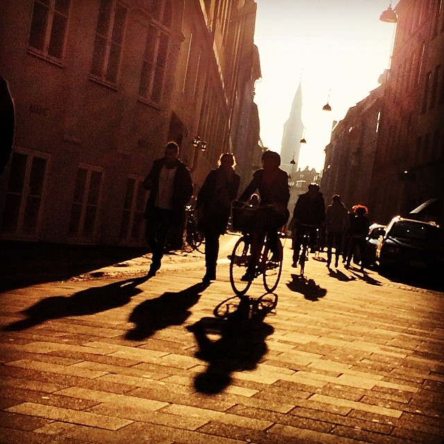 Lovely day in #copenhagen warm #sunlight and long #shadows - #fauxspring #bikes #streetview