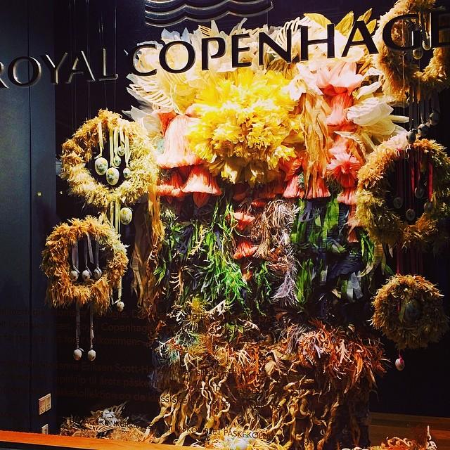 #royalcopenhagen #Easter #påske window display #copenhagen made from crepe paper by Marianne Eriksen Scott-Hamsen