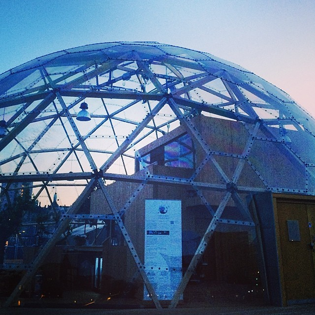 I really love #geodesicdomes - #dockside #copenhagen #blackdiamond