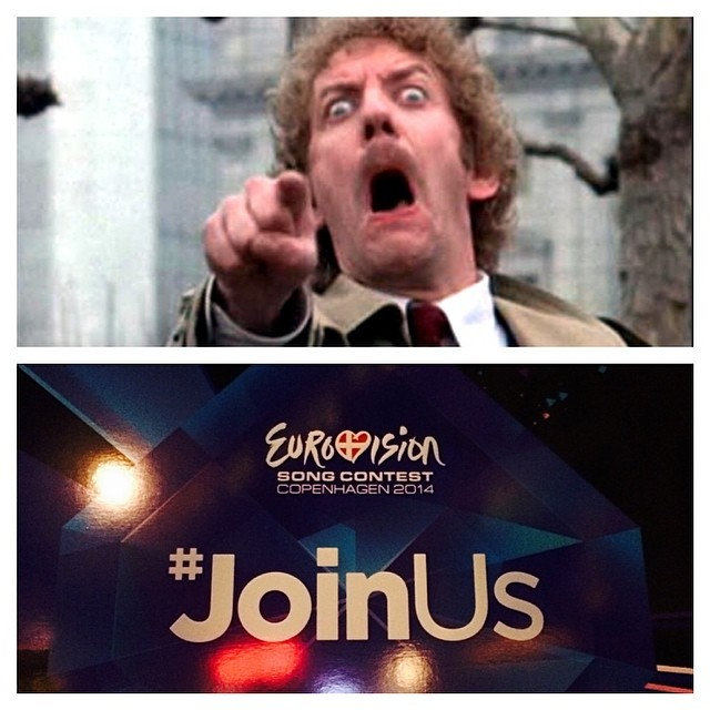 Well it's #Eurovision in #copenhagen this week - and this is how this years branding makes me feel