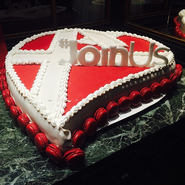 Christ, even the cake shop is cashing on on #eurovision - #joinus and eat cake in #copenhagen