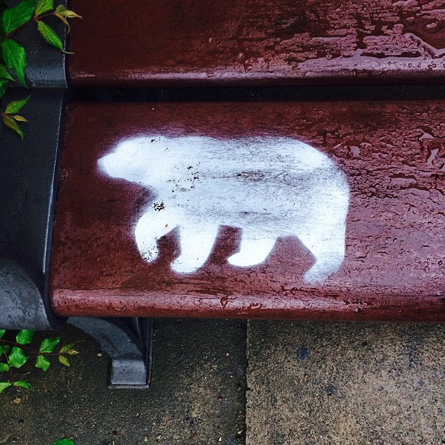 #polarbear #graffiti in #kongeligebibliotekshave #copenhagen