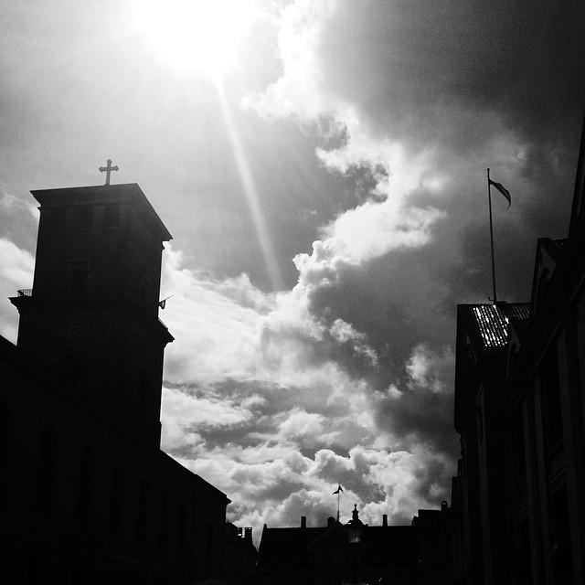 #copenhagen #church #sunlight #clouds #vscocam