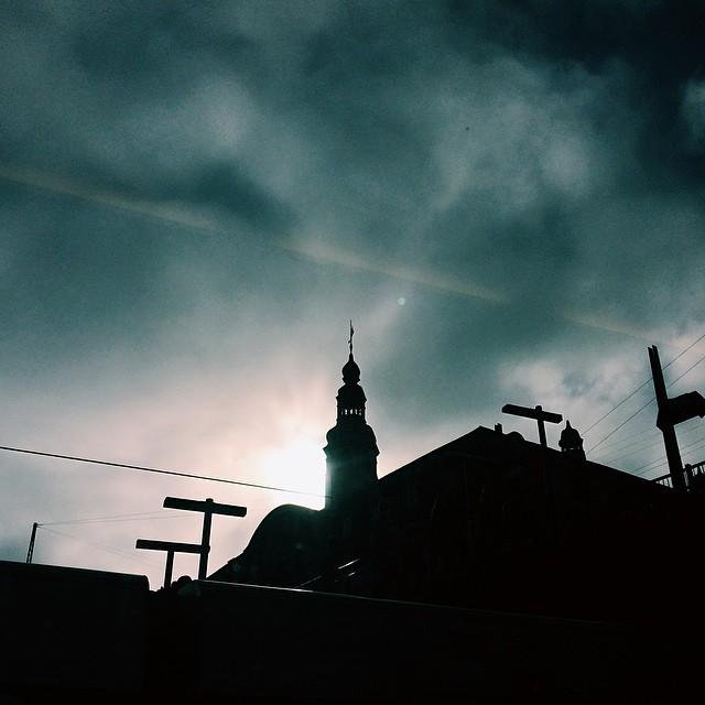 danish post office, #copenhagen #silhouette #vscocam