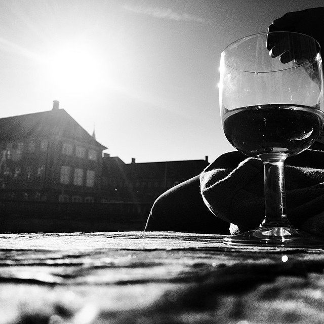 Can't beat a few glasses of #wine in the #sunshine by the #canal - #christiansborg #copenhagen