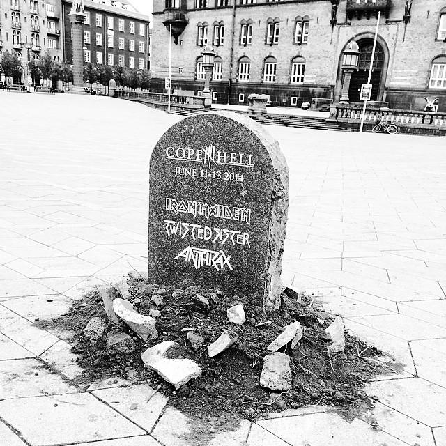 Great #ad for #copenhell by #rådhuset #copenhagen