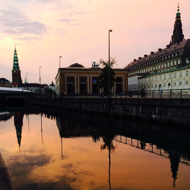 #thorvaldsensmuseum and the #canal #copenhagen - #reflections #summer #sunset