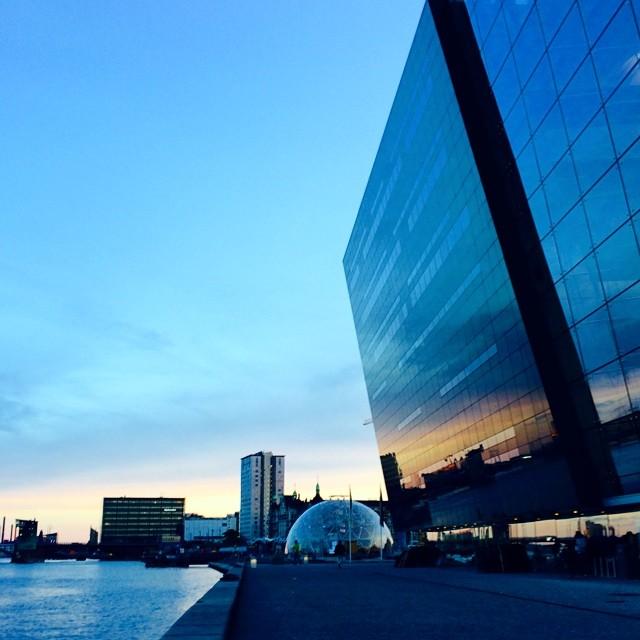 #blackdiamond and #geodesicdome on the #docks #copenhagen