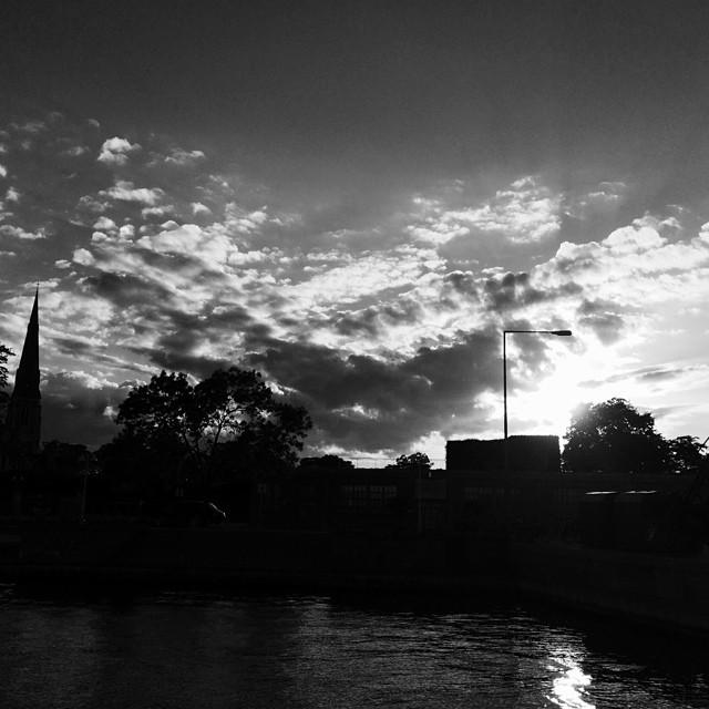 #clouds over the #englishchurch #copenhagen - #blackandwhite #cloudporn #vscocam